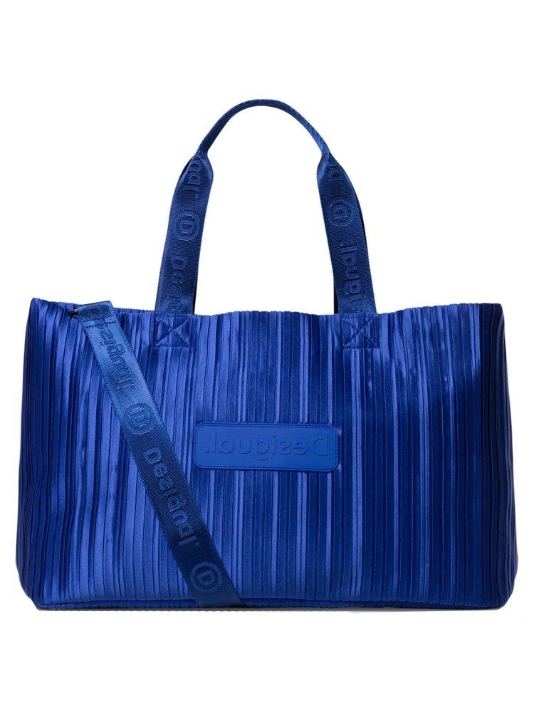 Desigual modrá sportovní taška Duffle Bag Pleats Blue
