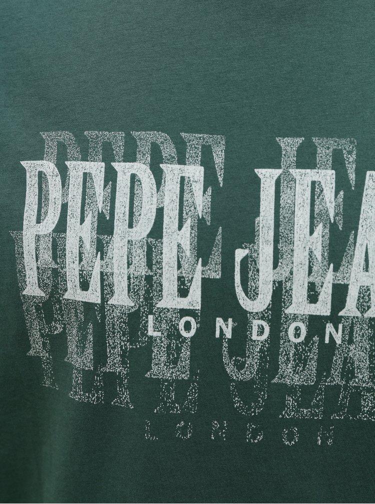 Tmavě zelené pánské tričko Pepe Jeans