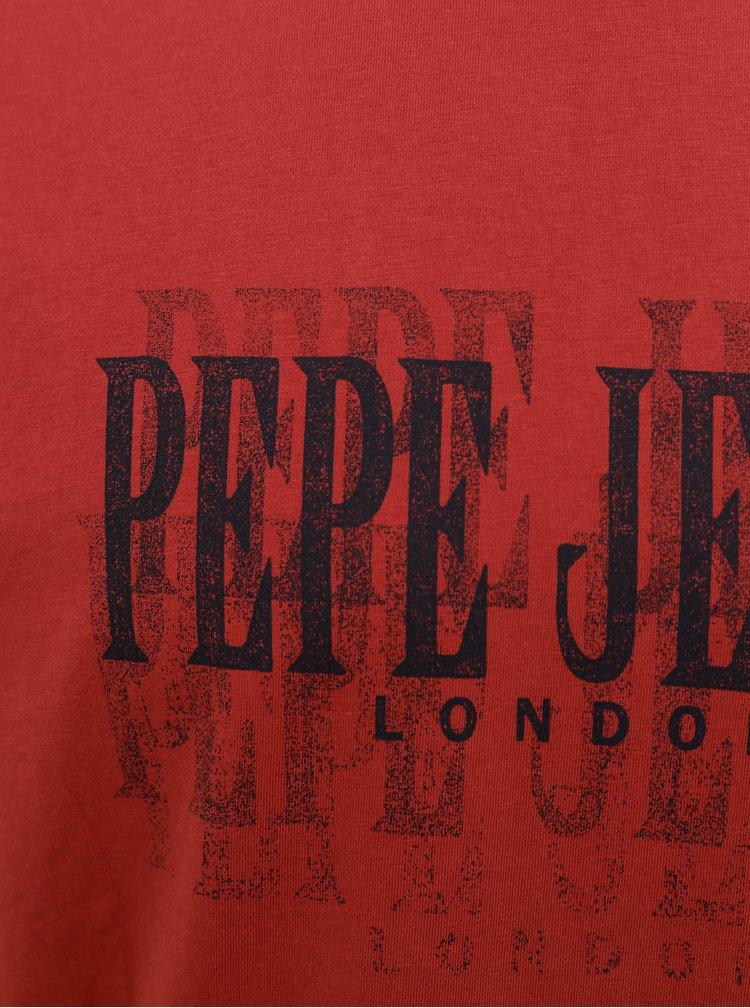 Červené pánské tričko Pepe Jeans