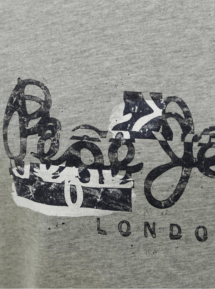 Šedé pánské tričko Pepe Jeans