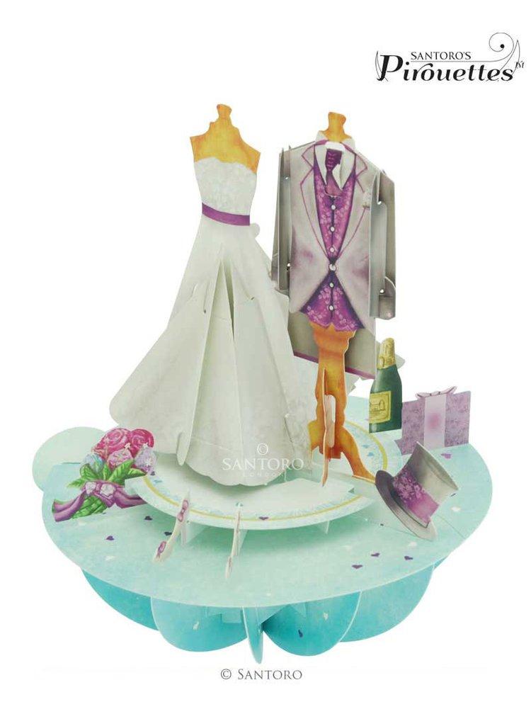 Santoro papírová 3D dekorace Wedding
