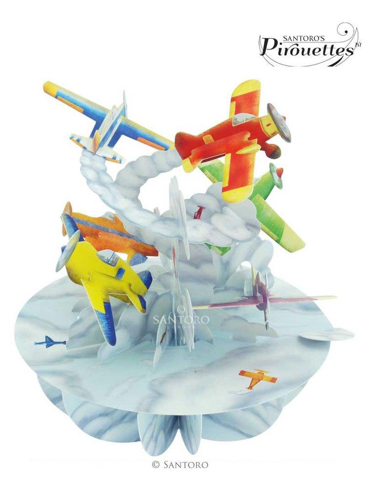 Santoro papírová 3D dekorace Planes
