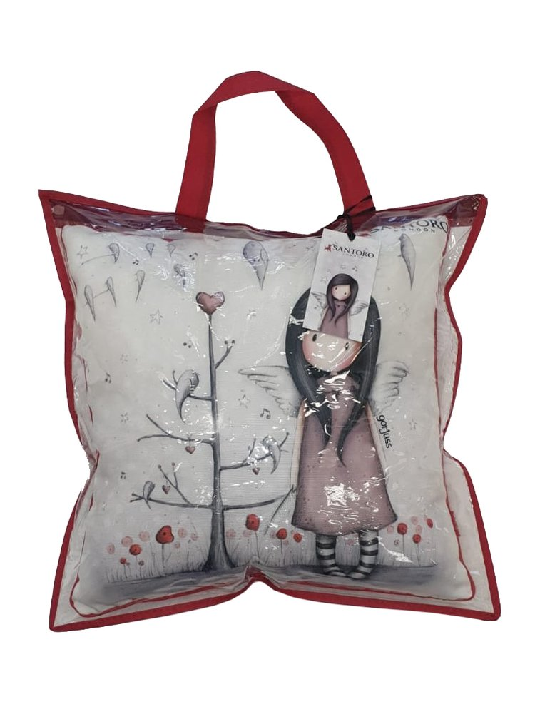 Santoro dekorativní polštář s výplní Gorjuss He Sang His Heart Out