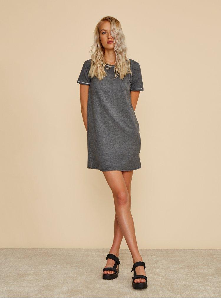 Šedé mikinové basic šaty ZOOT Baseline Millie