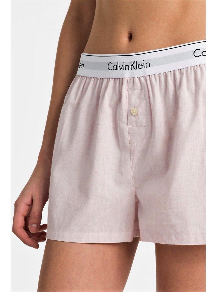 Calvin Klein dámské růžové domácí trenýrky Sleep Short