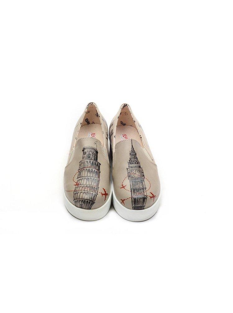 Goby béžové slip on boty na platformě World