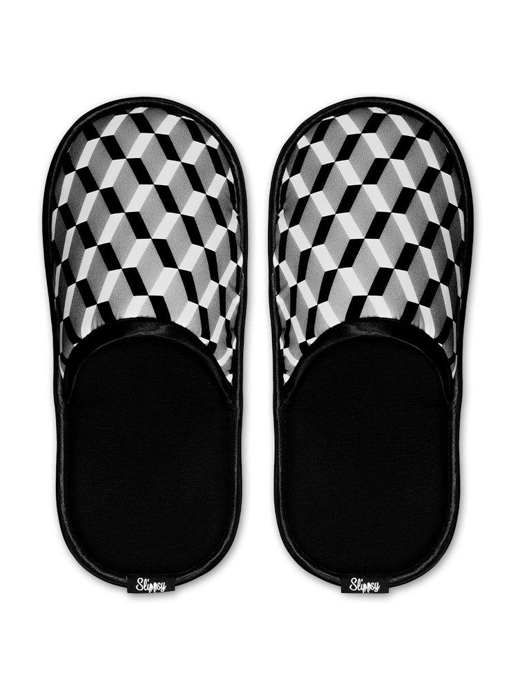 Slippsy černo-bílé unisex domácí pantofle Black Sheep