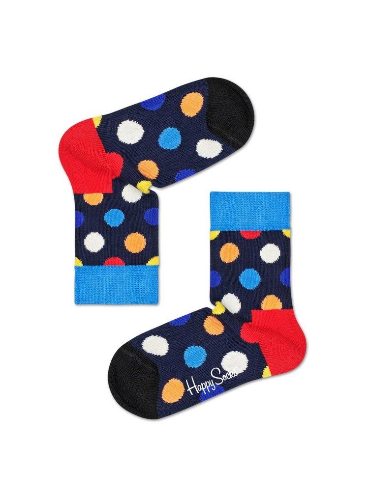 Happy Socks barevné chlapecké ponožky Big Dot Sock s puntíky