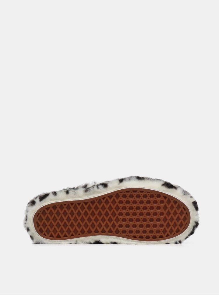 Krémové dámské slip on s leopardím vzorem VANS