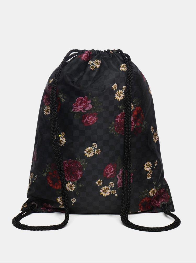 Černý dámský květovaný vak VANS