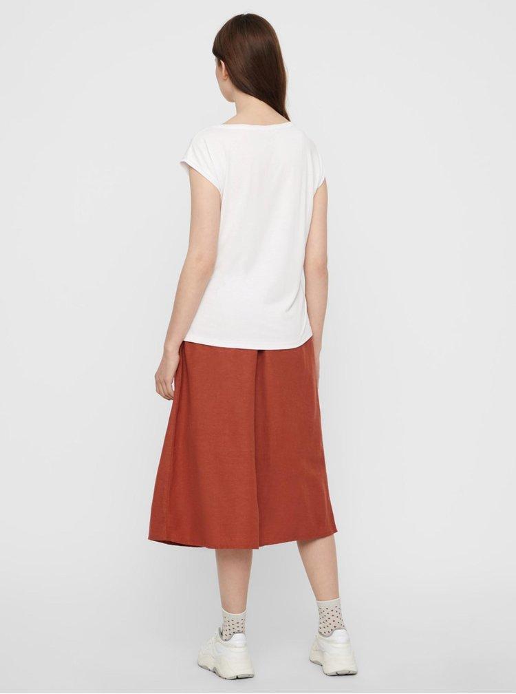 Topuri si tricouri pentru femei Pieces - alb
