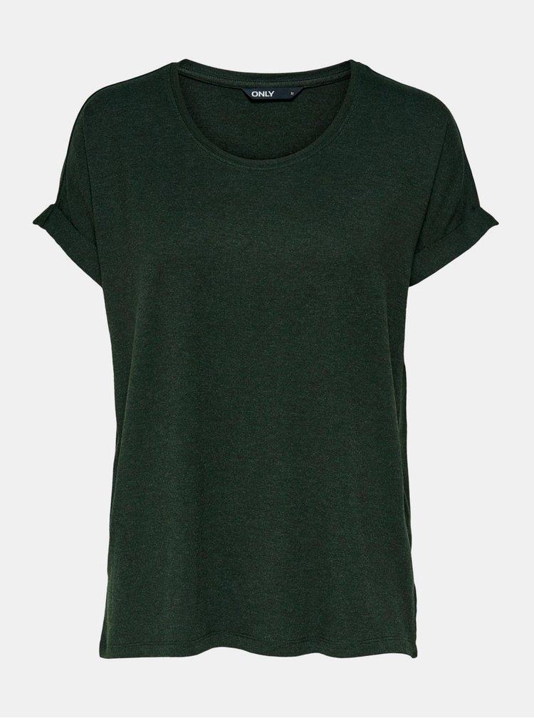 Tmavě zelené basic tričko ONLY Moster