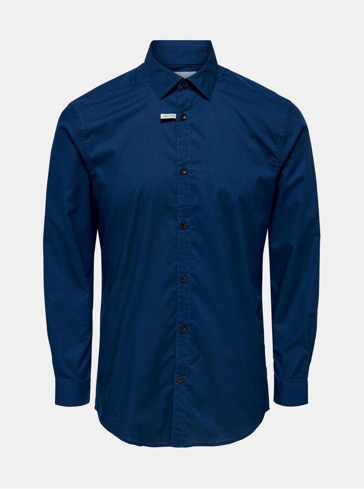 Tmavě modrá košile ONLY & SONS Sane