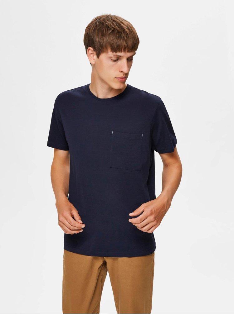 Tmavě modré tričko Selected Homme Park