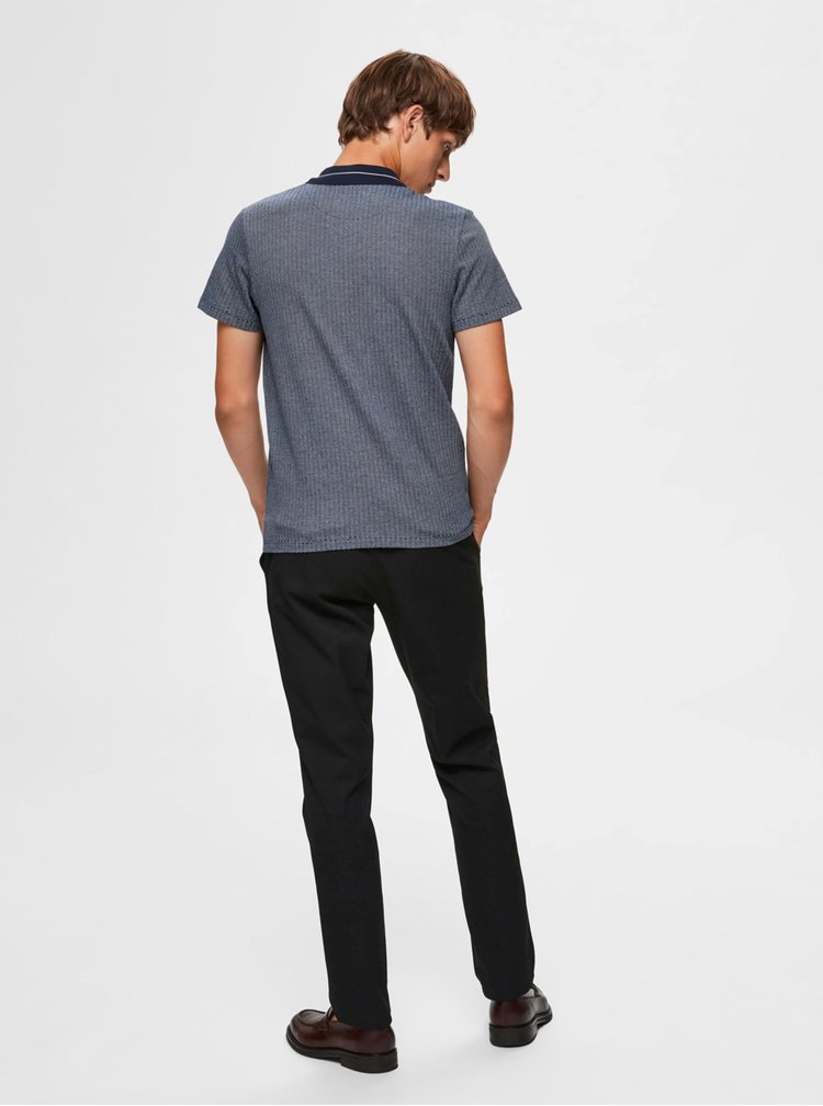 Modré polo tričko Selected Homme Avenue