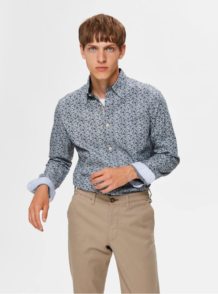 Camasi casual pentru barbati Selected Homme - albastru