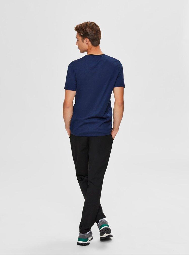 Tmavě modré tričko Selected Homme New Poe