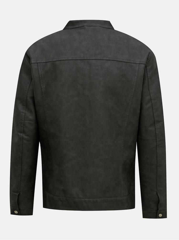 Jachete subtire pentru barbati ONLY & SONS - gri inchis