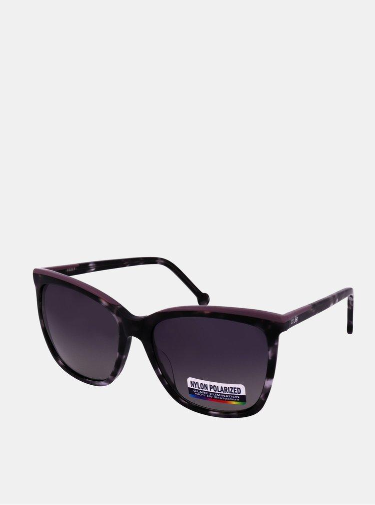 Fialovo-černé dámské sluneční brýle Crullé