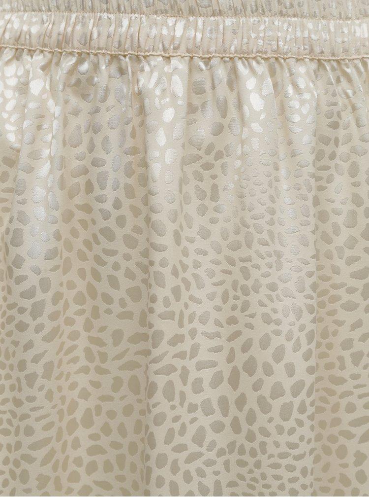 Krémová vzorovaná sukně Noisy May Seren