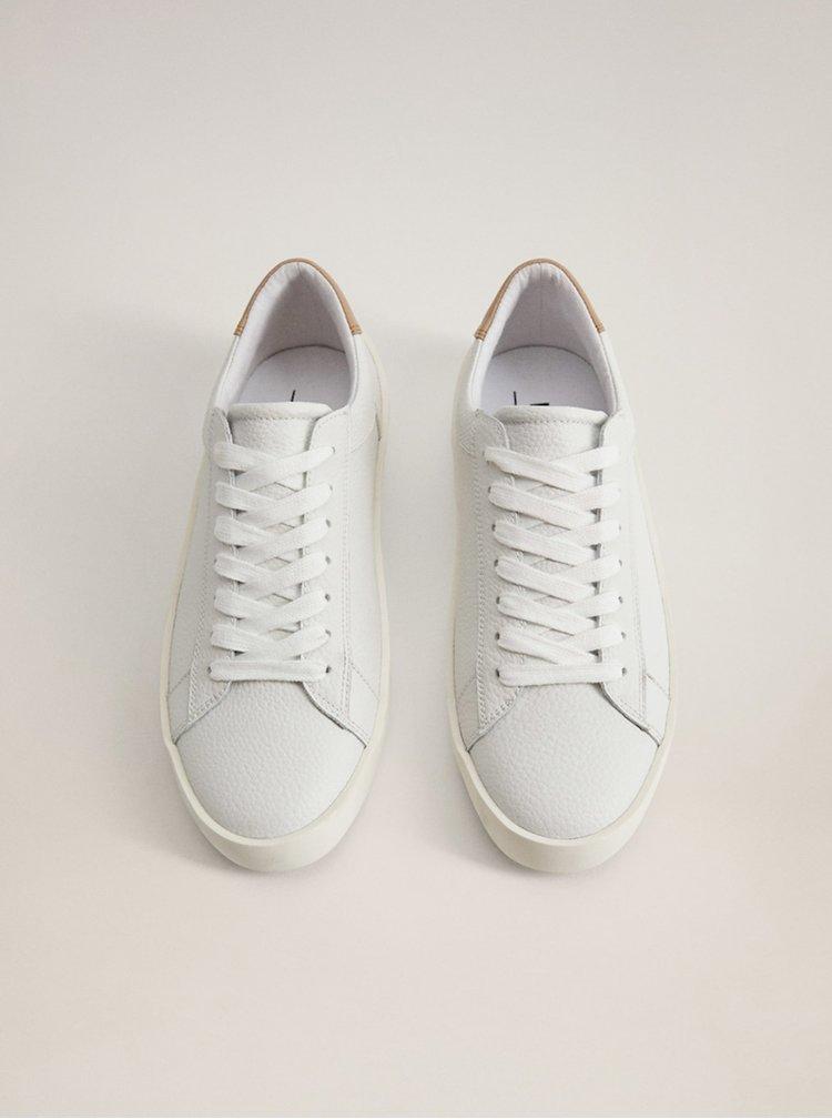 Bílé kožené tenisky Mango