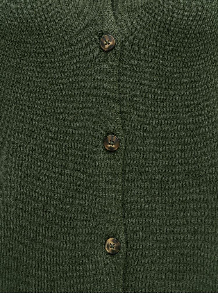 Pulovere pentru femei Pieces - verde inchis