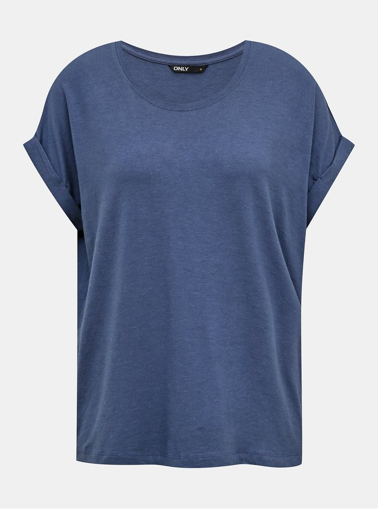 Modré basic tričko ONLY Moster