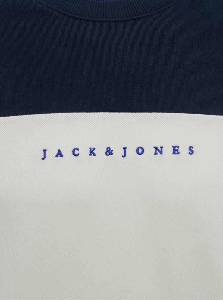 Šedo-modrá mikina Jack & Jones Pro
