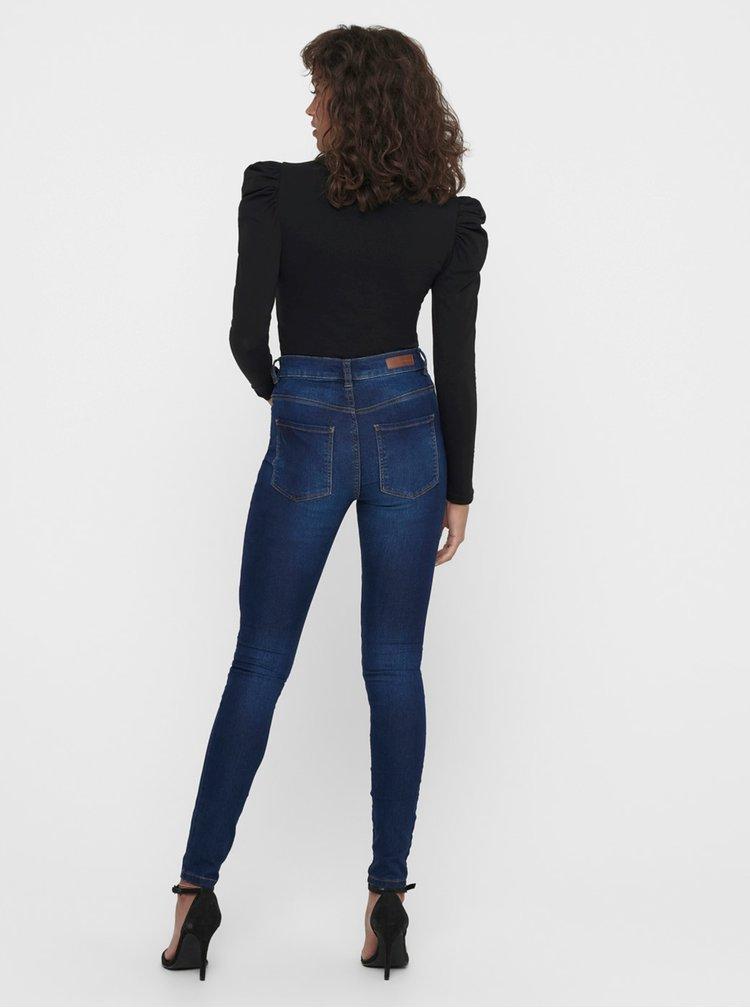 Skinny fit pentru femei Jacqueline de Yong - albastru inchis