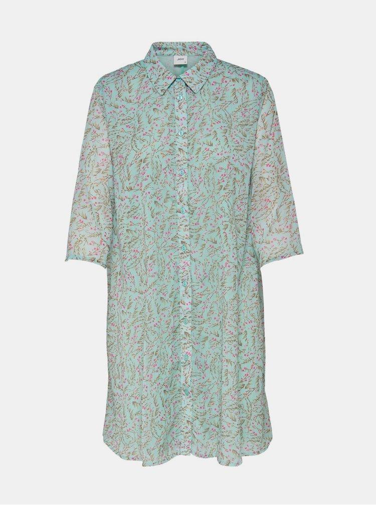 Zelené vzorované košilové šaty Jacqueline de Yong Nelly
