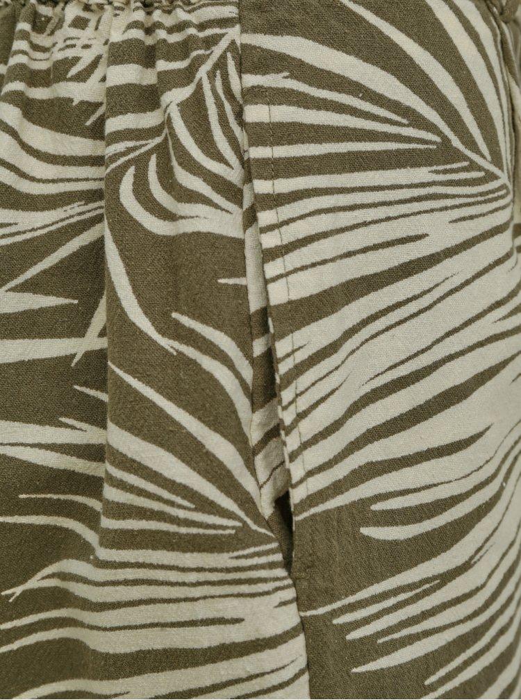 Khaki vzorované kraťasy ONLY Rora