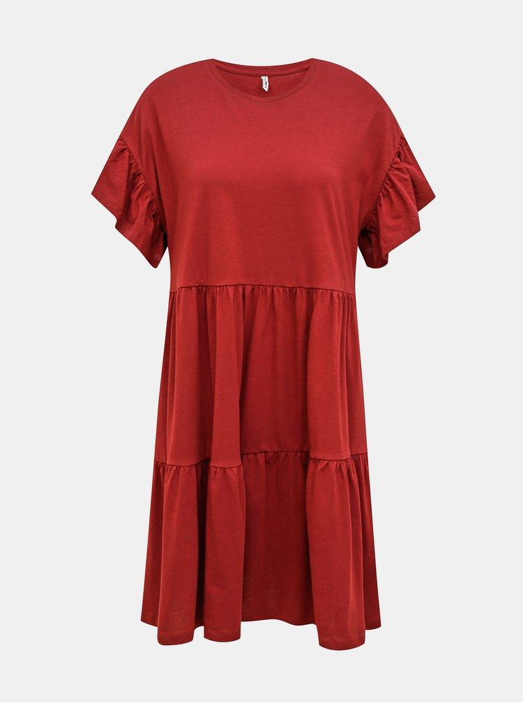 Vínové šaty ONLY May