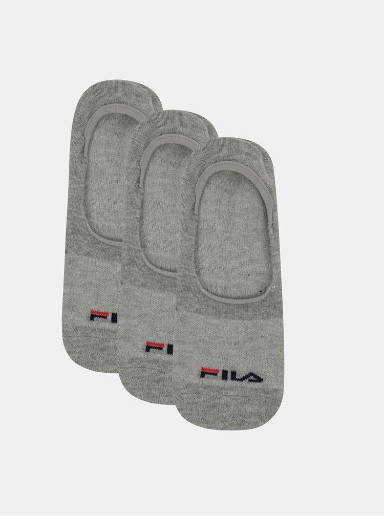 Sada troch párov šedých ponožiek FILA