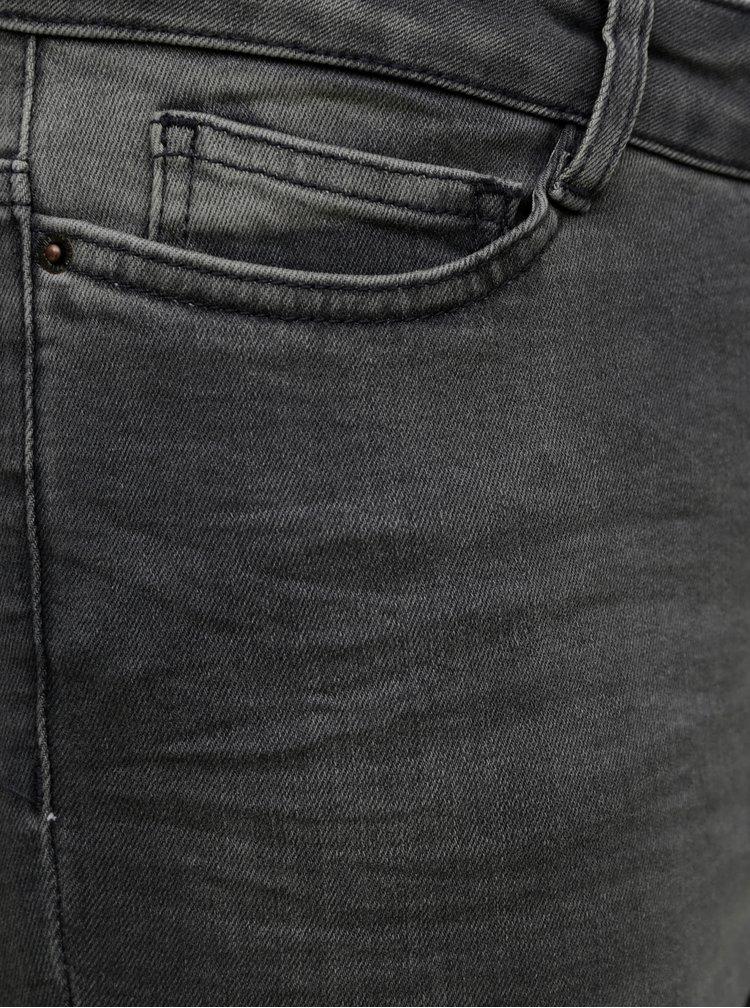 Šedé skinny fit džíny VERO MODA CURVE