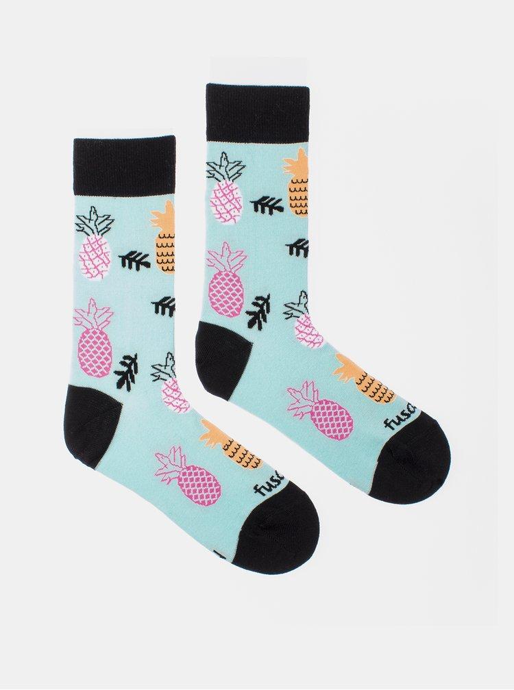 Světle modré vzorované ponožky Fusakle Ananista