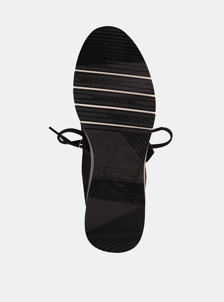 Khaki semišové tenisky Tamaris