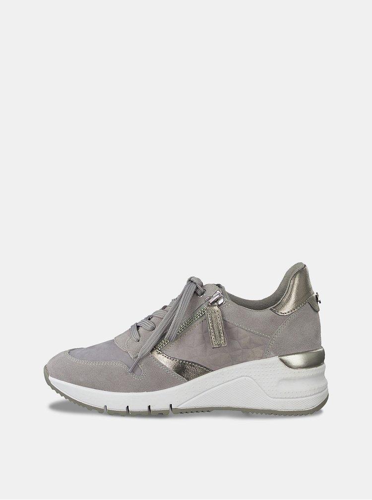 Pantofi sport si tenisi pentru femei Tamaris - gri