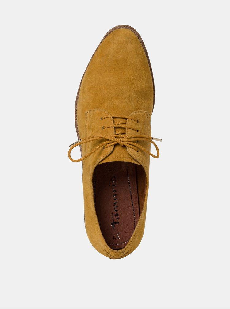 Pantofi cu siret pentru femei Tamaris - maro