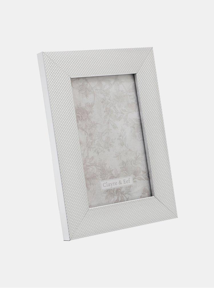 Fotorámeček ve stříbrné barvě Clayre & Eef