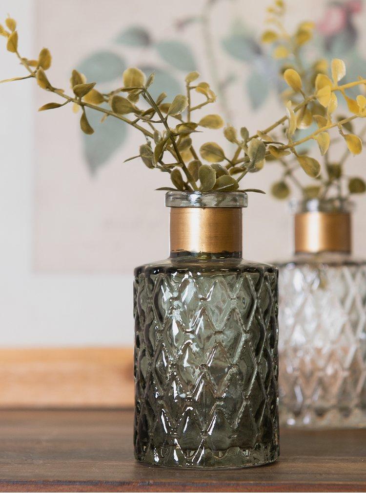 Zelená skleněná váza Clayre & Eef