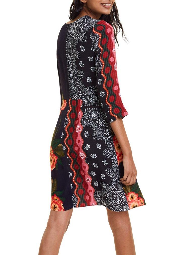 Desigual barevné šaty Vest Dana