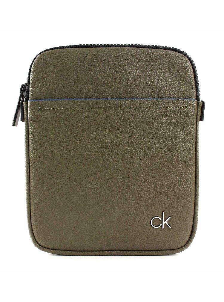 Calvin Klein olivová pánská taška CK Direct Flat Crossover Olive