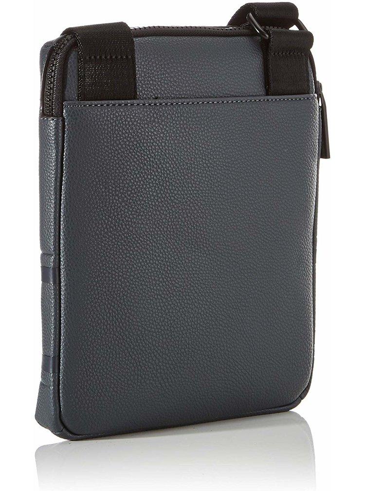 Calvin Klein šedá pánská taška Striped Logo Pu Flat Crossover Grey