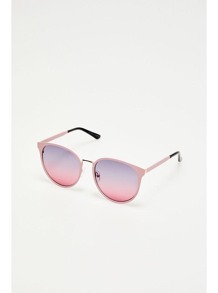 Moodo pudrově růžové sluneční brýle