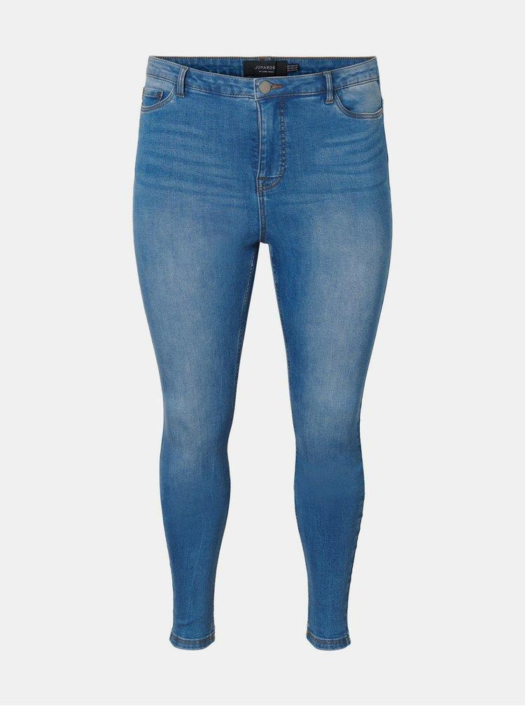 Modré skinny fit džíny JUNAROSE Tanja