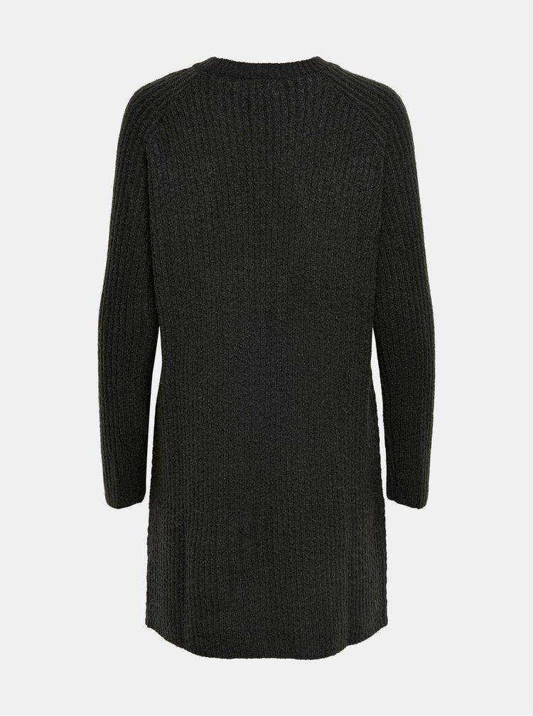 Tmavě šedé svetrové šaty ONLY Carol