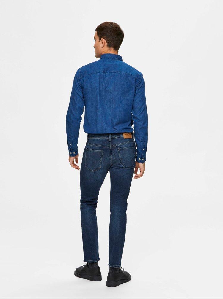 Modré slim fit džíny Selected Homme Leon