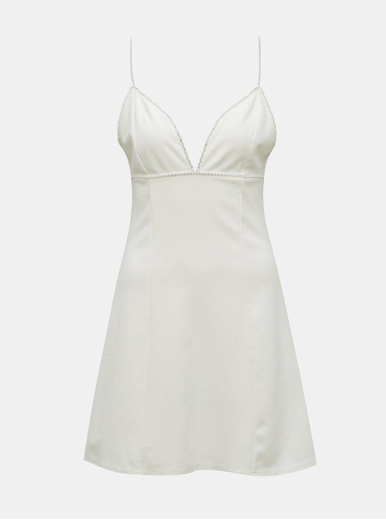 Bílé šaty s ozdobnými detaily TALLY WEiJL
