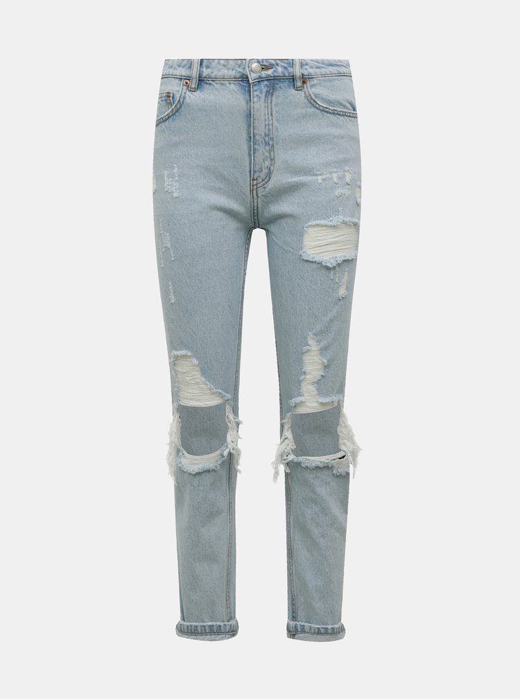 Světle modré mom fit džíny s potrhaným efektem TALLY WEiJL