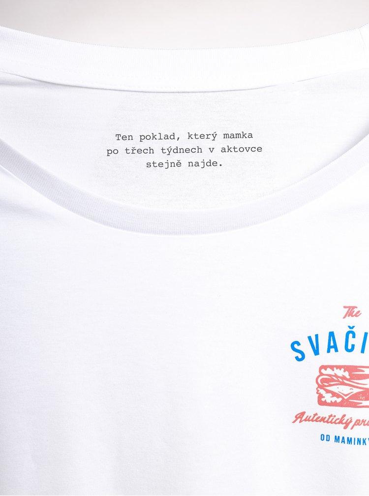 Bílé dámské tričko ZOOT Original Svačina od maminky